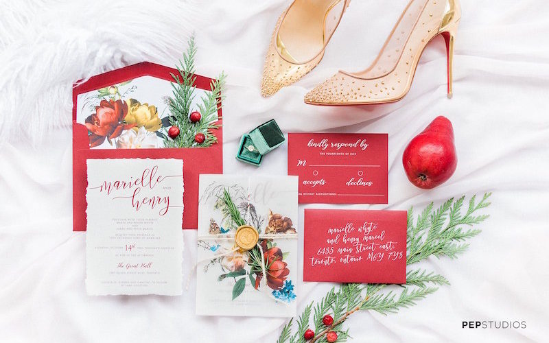 A Marriage in a Pear Tree: Holiday Style Shoot